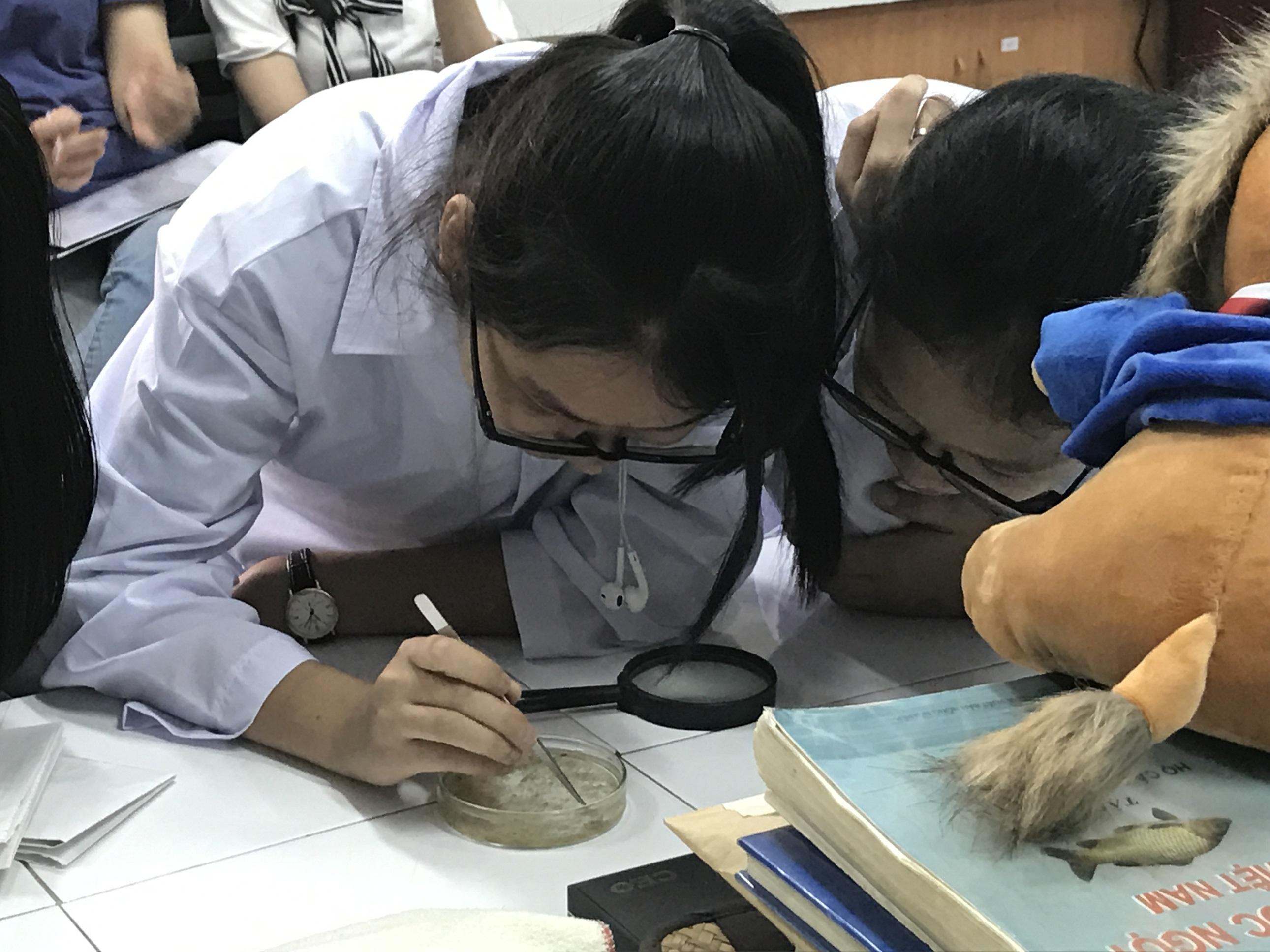 Phòng thí nghiệm Động vật thuộc bộ môn Sinh thái và Sinh học tiến hóa