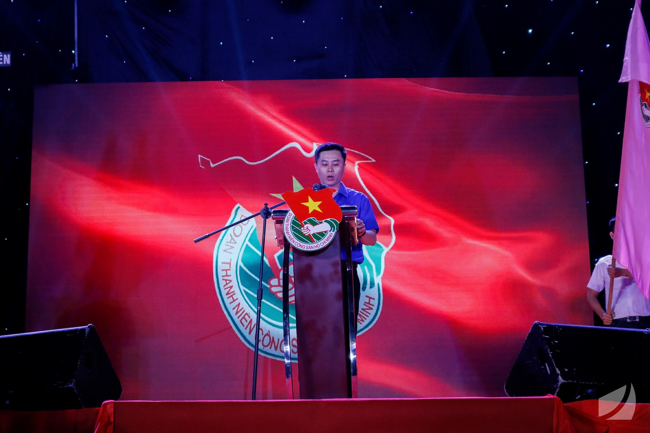 Đ/c Nguyễn Văn Tịnh - Bí thư Đoàn trường Đại học Khoa học Tự nhiên ôn lại lịch sử phát triển Đoàn trường